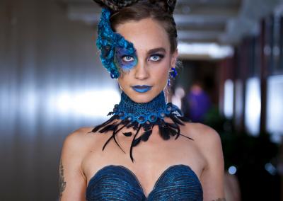 design, KAT • model, Devon le Fae • hair, Charlotte Cat Murphy • makeup, Vanessa Sogan • photo credit, Max Ganly